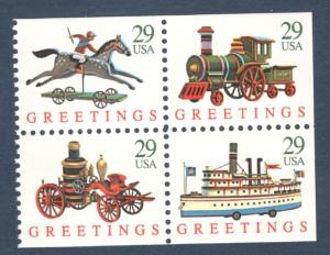 2715-18 (2718a) Christmas Toys Block Of 4 Mint/nh FREE SHIPPING