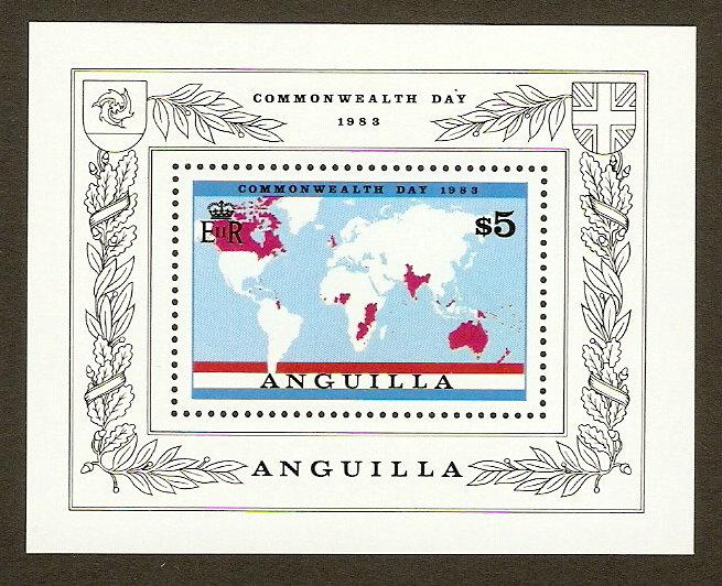 Anguilla #525 NH Commonwealth Day SS