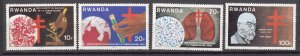 J27288 1982 rwanda set mnh #1103-6 medicine