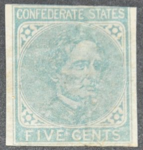 Confederate States of America Scott #6 (crease) – MNH