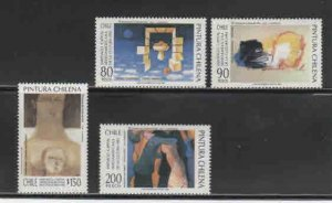 CHILE #1064-1067  1993  PAINTINGS      MINT VF NH  O.G