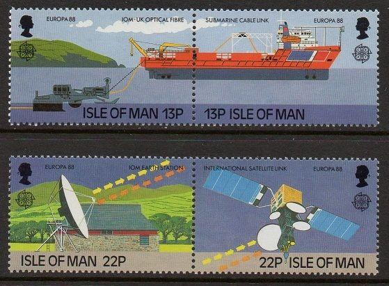 Isle of Man 1988 Europa Ship Satellite VF MNH (363-6)