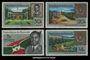 Burundi Scott 218-221 Mint never hinged.