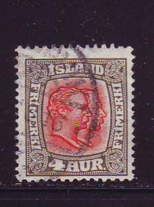 Iceland Sc101 1915 4 aur 2 kings stamp used
