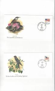 United States Fleetwood Songbirds of the 50 States. Covers. Nevada & Utah