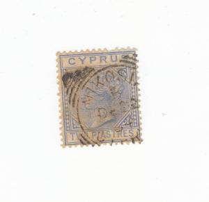 CYPRUS # 13 2p Q/VIC WITH NICOSIA CANCEL CAT VALUE $37.50