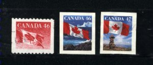 Canada #1695, 1698,1700    -3  used VF   PD