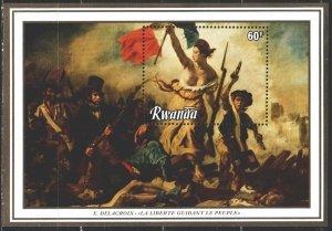 Rwanda. 1982. bl 98. Painting. MNH.