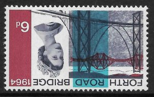 Sg 660pa 1964 Forth Road Bridge 6d (Phos) - Inverted Watermark - UNMOUNTED MINT