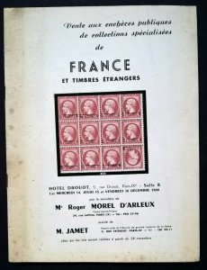 1966 Auction Catalogue FRANCE et Timbres Étrangers