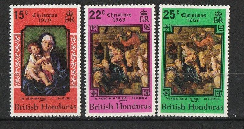 British Honduras MNH 248-50 Christmas 1969