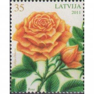 Latvia 2011 Flowers - Rose  (MNH)  - Flowers, Roses