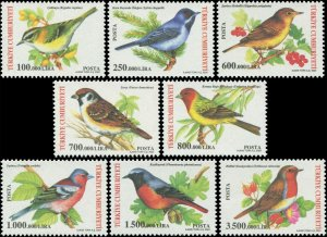 Turkey 2004 Sc 2890-2897 Birds Bunting Chaffinch Robin Warbler Sparrow CV $16