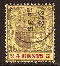 Mauritius  #  98  used