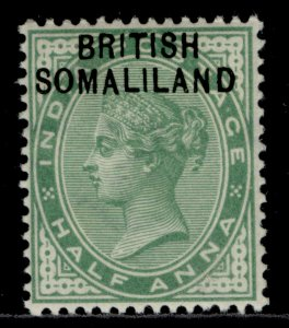 SOMALILAND PROTECTORATE QV SG1, ½a yellow-green, M MINT.
