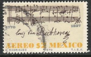 MEXICO C375, 200th Anniversary birth of Beethoven. Used. F-VF. (1185)