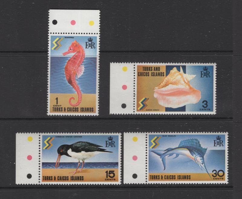Turks & Caicos Island 1971 Tourist publicity Set 4 Stamps Scott 232-5 MNH