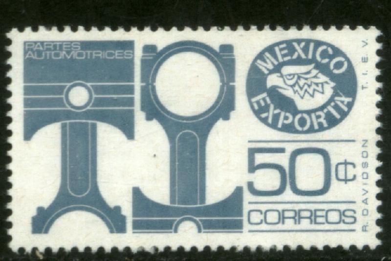 MEXICO 1112c, 50cts. MEXICO EXPORTA, PAPER 1, DULL BLUE. MNH