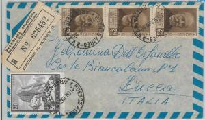 65409 - ARGENTINA -  Postal History -  REGISTERED AIRMAIL COVER to ITALY 1960