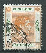 Hong Kong  George VI  SG 156 VFU short R  variety FU @ 40...