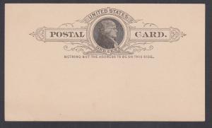 US Sc UX9 mint 1886 1c black Jefferson Postal Card, VF