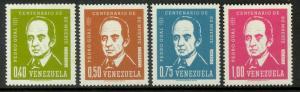 VENEZUELA 1964 Pedro Gual Set Sc 852-853, C847-C848 MNH