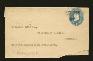 USA Postmarked 1895 1 Cent Blue Franklin Newspaper Wrapper