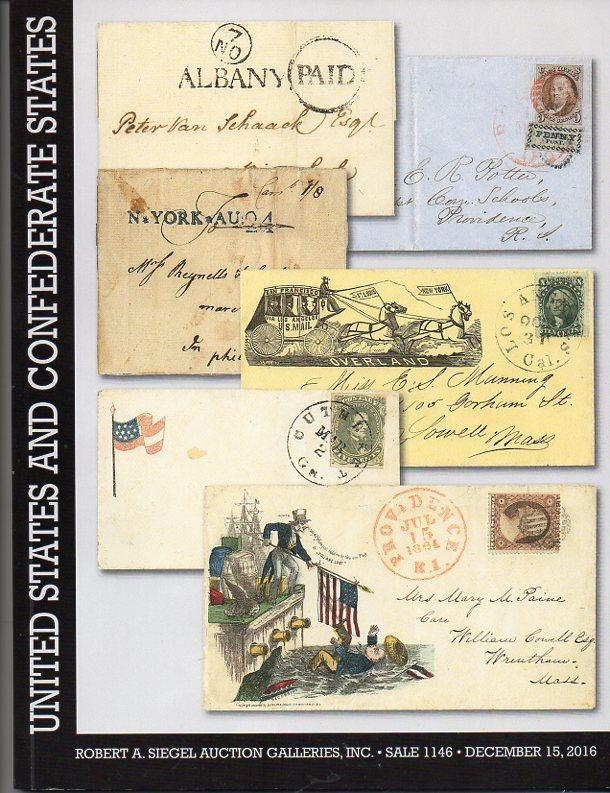 Siegel Auction  Sale of US and Confederate States Covers