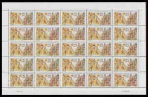 New Caledonia New Caledonia in New Zealand Sheetlet of 25v SG#1418 MI#1436