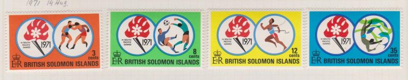 British Solomon Islands Sc#222-225 MH