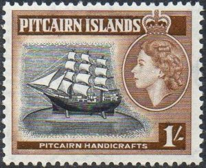 Pitcairn Islands 1957  1/-  Model ship   MH