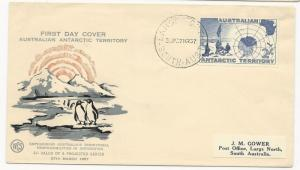 Australian Antarctic Territory Scott #L4 on First Day Cover March 27, 1957
