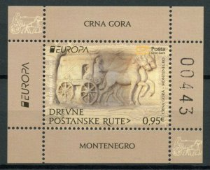 Montenegro Europa Stamps 2020 MNH Ancient Postal Routes Services Horses 1v M/S