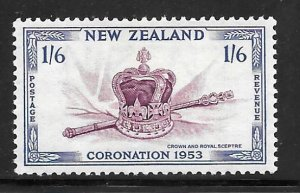 New Zealand 284: 1/6 Crown and Scepter, MH, F-VF