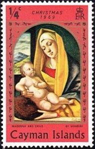 Cayman Islands # 244 mnh ~ 1/4¢ Christmas - Madonna and Child, orange