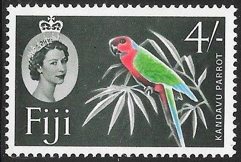 Fiji 173 MNH - Birds - Red Shining Parrot (Prosopeia tabuensis)