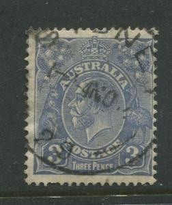 Australia-Scott 117 - KGV Definitive Issue-1932-Wmk 228 -Used -Single 3d stamp