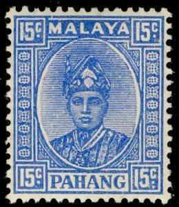 MALAYSIA - Pahang SG39, 15c ultram, M MINT. Cat £42.