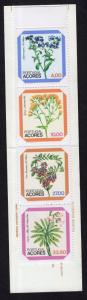Portugal Azores #329-332a  MNH 1982 booklet regional flowers