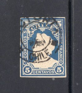 CHILE Early embossed stamp
