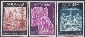 Andorra (Fr) #178-80  MNH CV $3.20 (Z9630)