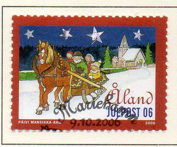 Aland Finland Sc  254 2006 Christmas stamp  used