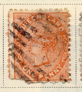 Queensland 1879-81 Early Issue Fine Used 1d. 326873