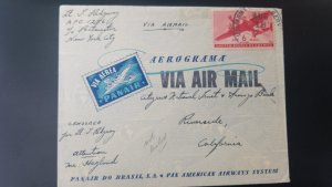 U) 1940, BRAZIL, APO 1256, NOT LISTED, FROM BRASIL TO USA, COVER, AIR MAIL