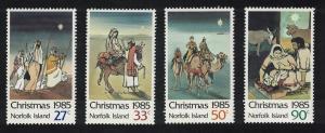 Norfolk Christmas 4v issue 1985 SG#374-377 SC#373-376