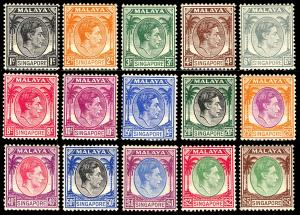Singapore 1948 Scott #1-20 Mint Never Hinged