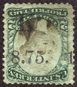 rs0066 U.S. Revenue Scott RB2b, 2-cent Proprietary rare F.W. Kinsman printed cxl