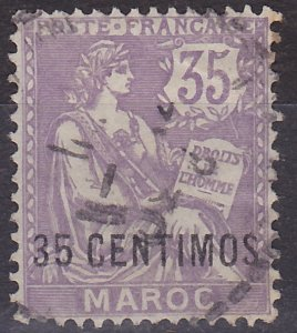 French Morocco 19 used