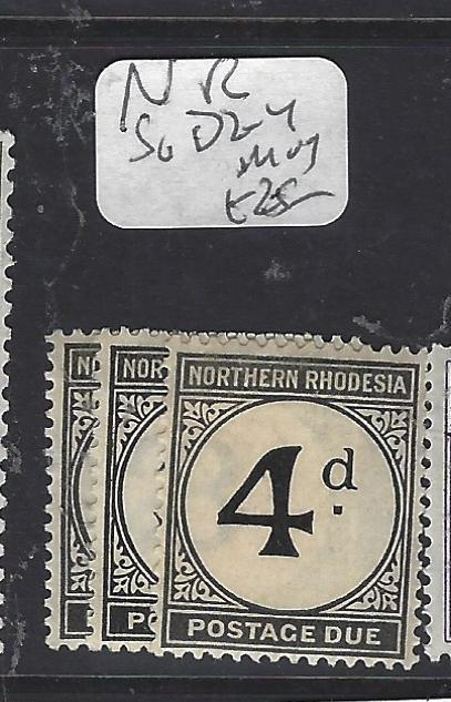 NORTHERN RHODESIA  (P0310B)  POSTAGE DUE SG D2-4   MOG