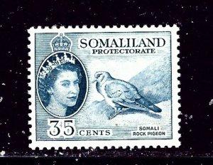 Somaliland 133 MH 1953 Somali Rock Pigeon